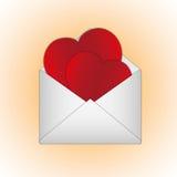 Sweet hearts card Stock Photos