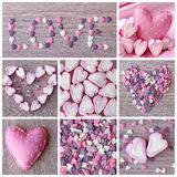 Sweet hearts collage Stock Photo