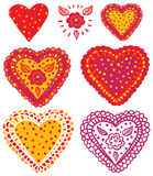 Sweet Hearts Collection Royalty Free Stock Photography