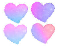 Sweet hearts collection on white background Royalty Free Stock Images