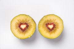 Sweet hearts in kiwifruit Royalty Free Stock Photography