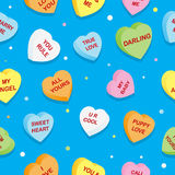 Sweet Hearts Pattern. A seamless pattern of some sweet candy hearts Royalty Free Stock Image