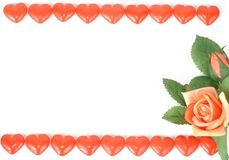 Sweet hearts and roses Stock Photography