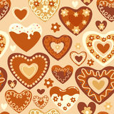 Sweet hearts seamless pattern Stock Photography