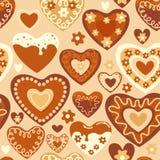 Sweet hearts seamless pattern. Sweet  heart shaped cakes seamless pattern Stock Photography