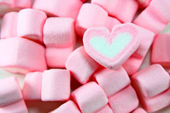 Sweet hearts shaped marshmallows Royalty Free Stock Image