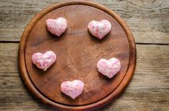 Sweet hearts on Valentine's Day celebration Stock Photos