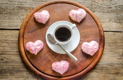 Sweet hearts on Valentine's Day celebration Royalty Free Stock Photo