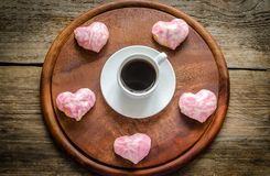 Sweet hearts on Valentine's Day celebration Royalty Free Stock Photography