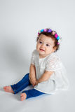 Sweet Hippie Baby Stock Image