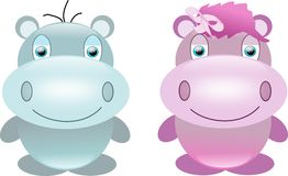 Sweet hippos Royalty Free Stock Photo