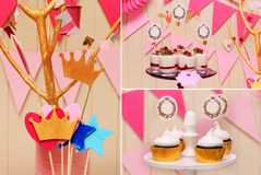Sweet holiday buffet collage Royalty Free Stock Photo