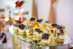 Sweet holiday buffet cupcakes and other desserts. Stock Photography