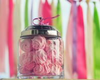 Sweet holiday buffet with marshmallow Royalty Free Stock Photo