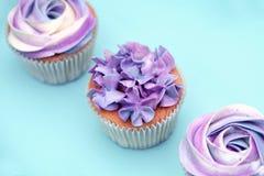 Sweet holiday buffet with vivid cupcakes Royalty Free Stock Photos