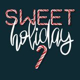 Sweet Holiday - creative poster Royalty Free Stock Images