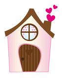 Sweet home. Pink sweet home with hearts isolated over white background Royalty Free Stock Images