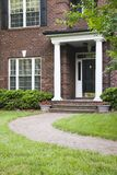 Sweet Home. Front Entrance to a Brick Home Royalty Free Stock Images