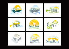 Sweet Home. Illustration and Painting Sweet Home Royalty Free Stock Photos