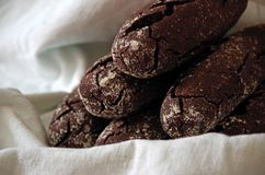 Sweet Home Bread. Close up shot of sweet cocoa breads royalty free stock photography