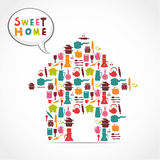 Sweet home card Stock Photography