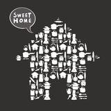 Sweet home card Royalty Free Stock Image