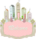 Sweet home card design. vector illustration Stock Photos