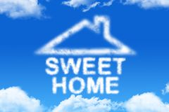 Sweet home - cloud word Stock Images