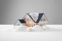 Sweet home concept. Home sweet home concept. Model of the house in sugar heap Stock Photo
