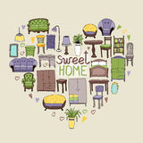 Sweet Home concept Royalty Free Stock Photography