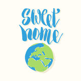 Sweet home. Hand drawn lettering quote. Typography poster Royalty Free Stock Photos