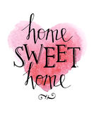 Sweet home hand lettering royalty free illustration