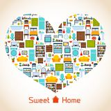 Sweet home heart concept Royalty Free Stock Photography