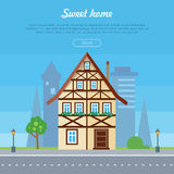 Sweet Home House Banner Poster Template. Vector Stock Photo