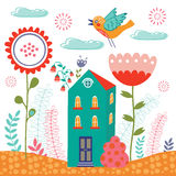 Sweet home illustration Royalty Free Stock Photos