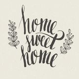 Sweet home lettering Royalty Free Stock Image