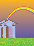 Sweet home love template. Illustration abstract sweet home love template rainbow background royalty free illustration