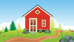 Sweet Home. New Design Sweet Home with flower, grass and beautiful landscape color Royalty Free Stock Photography