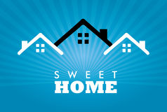 Sweet home. Over blue background vector illustration Stock Photography