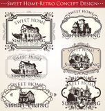 Sweet home - retro concept design Royalty Free Stock Photography