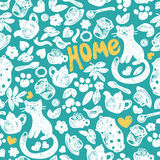 Sweet Home seamless pattern Royalty Free Stock Images