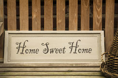 Sweet home sign Royalty Free Stock Image
