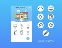 Sweet home. Vector icon. Royalty Free Stock Photo