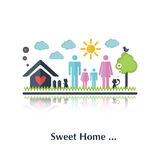 Sweet home Stock Image