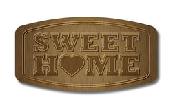 Sweet home wood plate Stock Photos