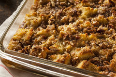 Sweet Homemade Bread Pudding Royalty Free Stock Photography