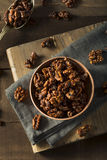Sweet Homemade Candied Walnuts Stock Photo