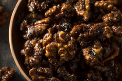 Sweet Homemade Candied Walnuts Stock Photography