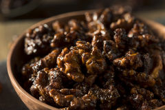 Sweet Homemade Candied Walnuts Royalty Free Stock Photography