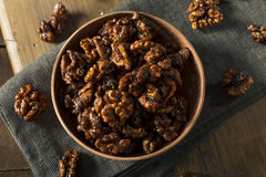 Sweet Homemade Candied Walnuts Stock Images
